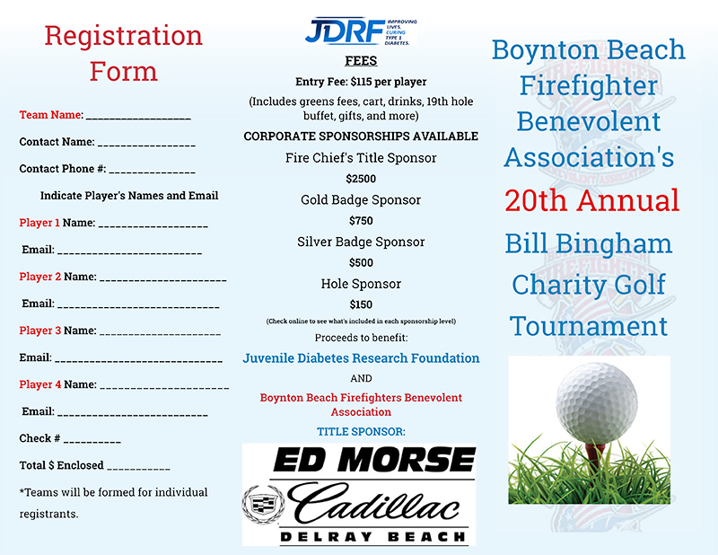 Boynton Beach Firefighters Benevolent Association – Golf Tournament